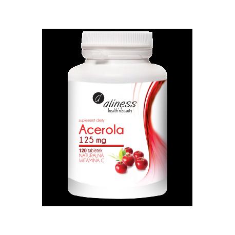 Acerola 125mg x 120 tab. Naturalna Vitamina C - lewoskrętna