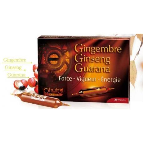 Żeń-Szeń, Imbir, Guarana-20 ampułek