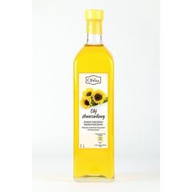 Olej słonecznikowy 1 l tłoczony na zimno nieoczyszczony