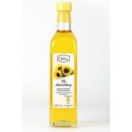 Olej słonecznikowy 500 ml tłoczony na zimno nieoczyszczony