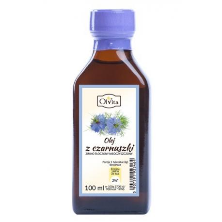 Olej z czarnuszki 100 ml tłoczony na zimno nieoczyszczony