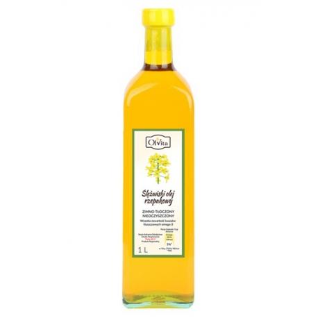 Olej rzepakowy 1 l tłoczony na zimno nieoczyszczony
