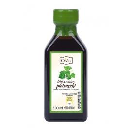 Olej z nasion pietruszki 100 ml tłoczony na zimno nieoczyszczony