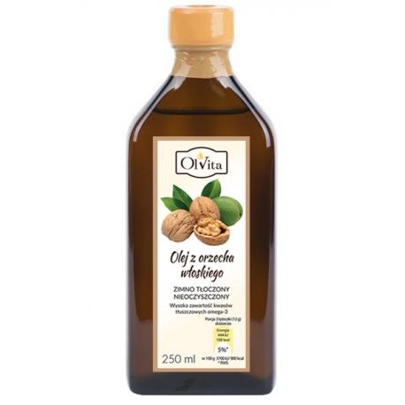 Olej z orzecha włoskiego 250 ml tłoczony na zimno nieoczyszczony