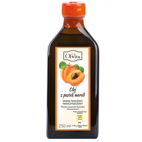 Olej z pestek moreli 250 ml tłoczony na zimno nieoczyszczony