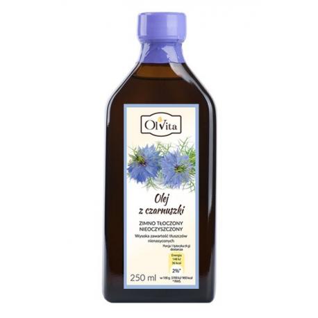 Olej z czarnuszki tłoczony na zimno nieoczyszczony 250 ml