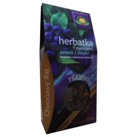 Herbata z owocami aronii i śliwki