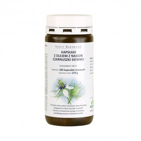 Kapsułki z olejem z czarnuszki siewnej 500 mg - 180 kap.