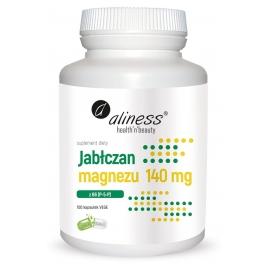 Jabłczan magnezu 140 mg z B6 (P-5-P) x 100 Vege caps