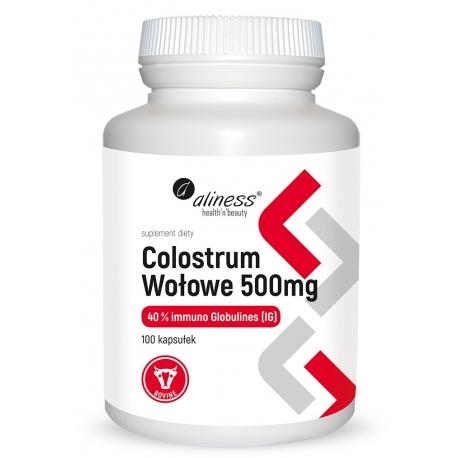 Colostrum Wołowe IG 40% 500 mg x 100 kaps.
