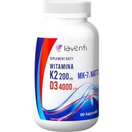 Witamina K2-200 mcg + Witamina D3-4000 j.m. Laventi.
