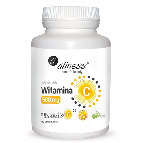 Witamina C 500 mg, micoractive 12h x 100 Vege caps
